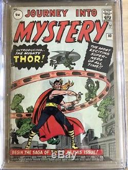 Journey into Mystery #83 CGC 2.5 Origin and 1st Thor Key S. A. Title UK Variant