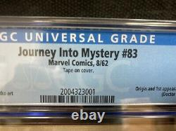 Journey into Mystery #83 CGC 4.5 1st Thor, & GRR 8.5 & GR Signed Stan Lee