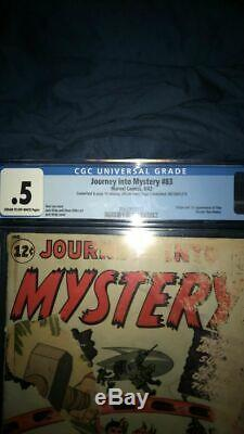 Journey into Mystery #83 CGC. 5 C-OW 1st Thor-Marvel 1962. Complete Story