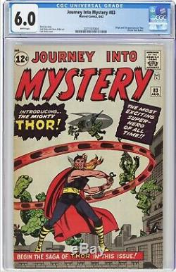 Journey into Mystery #83 CGC 6.0 1st Thor, 2071101004 Avengers WHITE Pages