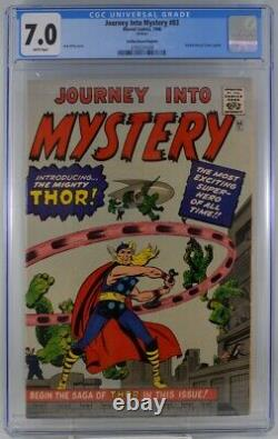 Journey into Mystery #83 CGC 7.0 1st Appearance Thor Golden Record Reprint 1966