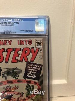 Journey into Mystery #83 CGC 8.0/ Marvel / Hot Grail / 1st Thor / OW-W Pages