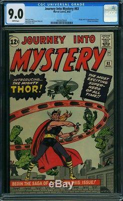 Journey into Mystery #83 CGC 9.0 / Marvel / Hot Grail / 1st Thor / White Pages