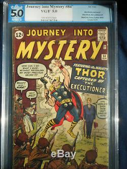 Journey into Mystery 84 PGX 1st Jane Foster 2nd Thor app 1962