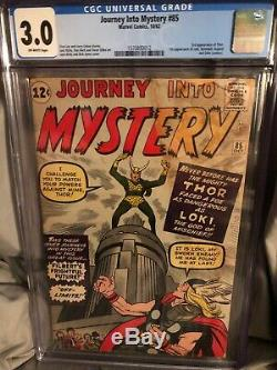 Journey into Mystery 85 1962 CGC 3.0 1st App of Loki! OW pages! 3rd Thor