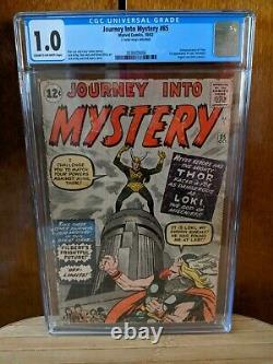 Journey into Mystery #85 CGC 1.0 C-OW pages 1st Appearance of Loki