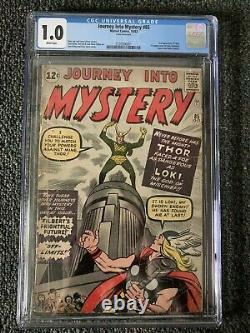 Journey into Mystery #85 CGC 1.0 WHITE PAGES! COMPLETE! 1st Appearance Of LOKI