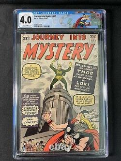 Journey into Mystery 85 CGC 4.0 1st App. Of Loki Disney+ Marvel Thor Label