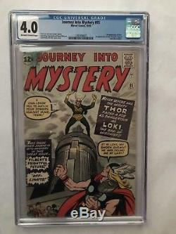 Journey into Mystery #85 (Oct, 1962, Marvel) CGC 4.0 Off-white to White pages