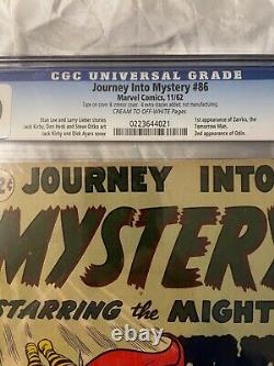 Journey into Mystery 86 CGC (2.0) 1st app. Zarrko 2 app Odín (11/62)