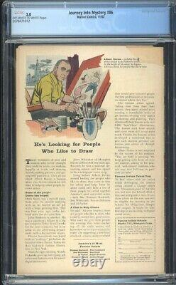 Journey into Mystery 86 CGC 3.0 OWithW Silver DC Comic 2nd App. Odin IGKC L@@K