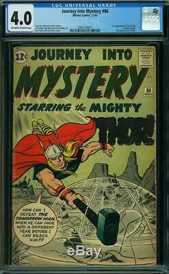 Journey into Mystery #86 CGC 4.0 - 1962 - 1st Zarrko Tomorrow Man #2004736011
