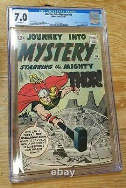 Journey into Mystery #86 CGC 7.0 White Pages 1st Full Appearance of Odin