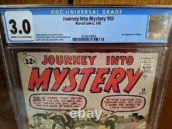 Journey into Mystery #88 CGC 3.0 C-OW pages 2nd Appearance of Loki