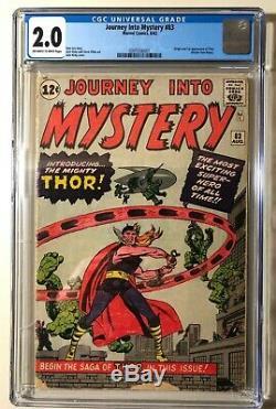 Journey into Mystery #89 CGC 2.0. Stan Lee & Jack Kirby. Origin & 1st App Thor