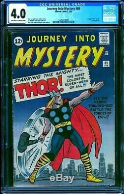 Journey into Mystery #89 CGC 4.0 - 1963 - Thor Origin. Key Cover #1229374009