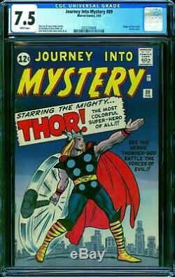 Journey into Mystery #89 CGC 7.5 - 1963 - Kirby Classic Thor cvr #0333734008
