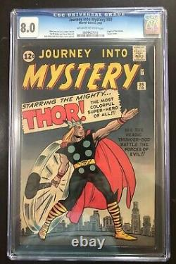 Journey into Mystery #89 CGC 8.0. Thor Origin. Classic Heroic Cover by Kirby