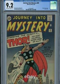 Journey into Mystery 89 CGC 9.2 OWithW Classic Cover with Jack King Kirby