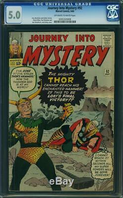 Journey into Mystery #92 CGC 5.0 - 1963 - Loki Thor cover. Kirby #0265320008
