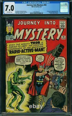Journey into Mystery #93 CGC 7.0 - 1963 - 1st app Radioactive Man #2011852017