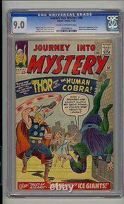 Journey into Mystery #98 CGC 9.0 VF/NM Thor Unrestored Origin & 1st Human Cobra