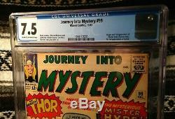 Journey into Mystery 99 CGC 7.5 Cream to Off-White Priced to Sell