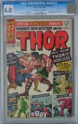 Journey into Mystery Annual # 1 1965 Fine / CGC 6.0 / Kirby Art / 1st Hercules
