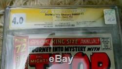 Journey into Mystery Annual #1 1st Hercules Zeus CGC Signed Stan Lee 4.0
