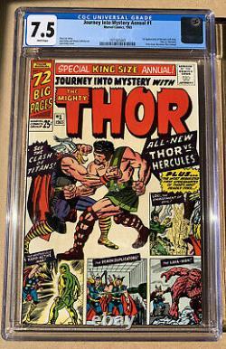 Journey into Mystery Annual #1 CGC 7.5 WP Thor. 1st App of Hercules & Zeus. MCU