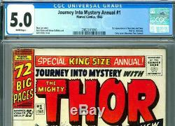 Journey into Mystery Annual 1 with Thor 1st Hercules CGC 5.0 Only issue in Title