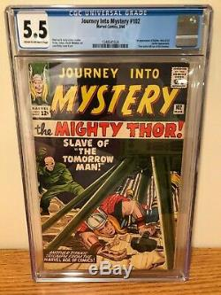 Journey into Mystery (Thor) 102 CGC 5.5 (First Appearance of Balder and Sif)