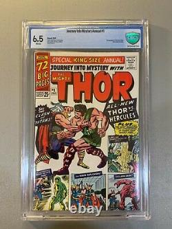 Journey into Mystery Thor Annual # 1 CBCS 6.5 White Pages 1st Hercules Not CGC