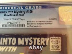 Journey into Mystery v1 #109 1964 CGC 4.5 UK pence variant Stan Lee Thor Magneto