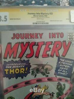 Journey into mystery # 83 1966 GRR Signed By Stan Lee 8.5 CGC SS