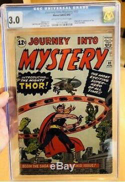 Journey into mystery 83 CGC 3.0 Unrestored 1st Thor, really nice looking
