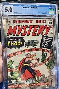 Journey into mystery 83 Cgc 1962
