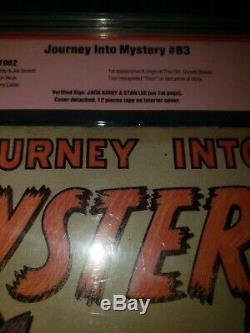 Journey into mystery 83 cbcs 1.5 signed by stan lee and Jack kirby