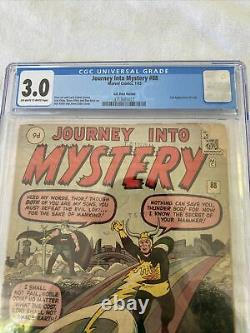 Marvel 1963 Journey Into Mystery #88 CGC 3.0 2nd Loki UNRESTORED Disney Plus