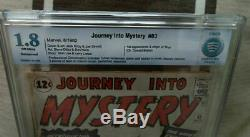 Marvel Comics CBCS cgc 1.8 THOR 83 1ST appearance JOURNEY INTO MYSTERY avengers