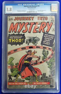 Marvel Comics' JOURNEY INTO MYSTERY #83 1st App. Of THOR! CGC Graded 1.8