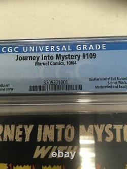 Marvel Comics Journey Into Mystery #109 CGC Graded 7.0