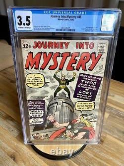 Marvel Comics Thor Avengers Journey into Mystery 85 CGC 3.5 1st App. Of Loki
