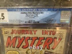 Marvel Comics Thor Journey into Mystery 85 CGC. 5 1st App. Of Loki