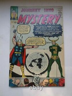 Marvel Journey Into Mystery #94, Kirby's United Nations Cover, Rare, 1963, Fn+