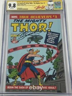 Mighty Thor #1 Journey Into Mystery #83 RP Signed Stan Lee & Sinnott CGC 9.8 SS