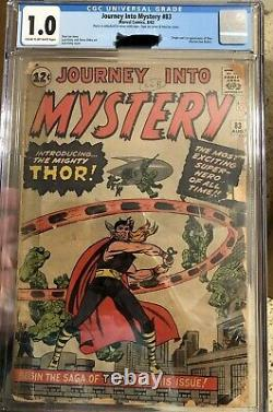 Rare Comic Books JOURNEY INTO MYSTERY #83 FIRST THOR CGC 1.0 1962 BLUE LABEL