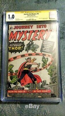 SILVER AGE KEY LOT X-Men #1 Fantastic Four #1 Journey Into Mystery #83 CGC