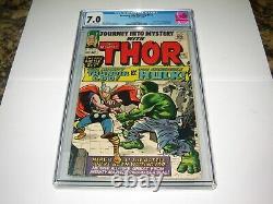 Silver Age Marvel Comic Journey Into Mystery # 112 CGC 7.0 classic Hulk Vs Thor