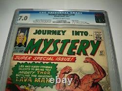 Silver Age Marvel Comic Journey Into Mystery # 97 CGC CGC 7.0 Origin Of Odin
